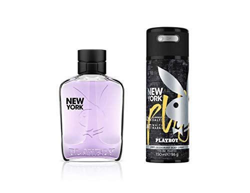 Playboy New York For Men Gift Set (EDT100ml+Deo150ml)