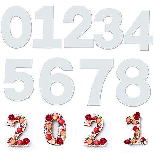 9 Stück Kuchen Zahlenform 0 1 2 3 4 5 6(9) 7 8 Zahlen Set, Zahlen Kuchenform Torte Zahlen Vorlage Zahlenform Kunststoffschablonen (12 IN)