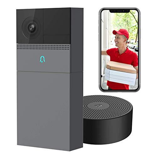Laxihub Türklingel mit Kamera Video Türklingel Nachtsicht WLAN Türklingel mit FHD WiFi Kamera Wasserdicht 2-Wege-Audio Security Camera Kompatibel mit Alexa
