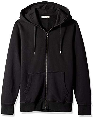 Amazon Brand - Goodthreads Men's Fullzip Fleece Hoodie, Black, Large