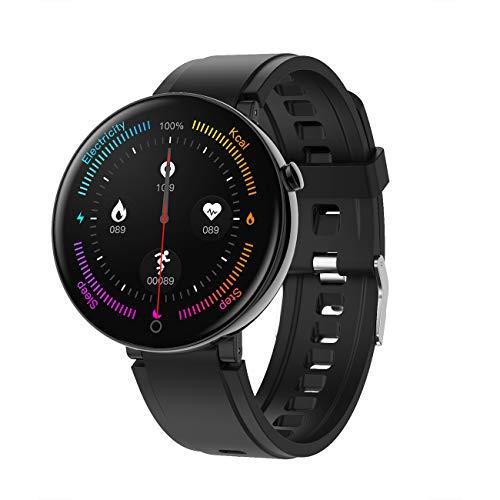 NNYCC - Reloj inteligente de gama alta con diseño elegante, para ejercicio de la salud, monitor de ritmo cardíaco y sueño, analice de forma inteligente la situación de la actividad física.