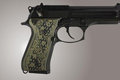 Hogue 92118 Beretta 92Fs Chain Link G10 Damascus Green