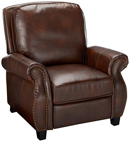 Christopher Knight Home Jasmine PU Leather Recliner Club Chair, Light Brown