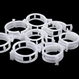 EORTA 200 Pcs Plant Support Clips PP Plastic Trellis Tomato Clips Vine Clips Crop Quick Clips Vertical Gardening Tool for Plants Vine, Vegetables, Tomatoes, Cucumbers, White
