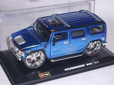 Hummer H2 H 2 Suv Blau Blue Tuning 1/32 Bburago Burago Modellauto Modell Auto