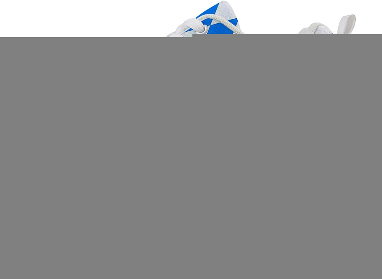 Owaheson Swing Platform Toning Fitness Casual Walking shoes Wedge Sneaker Women bluee White Diamond Bavaria Flag