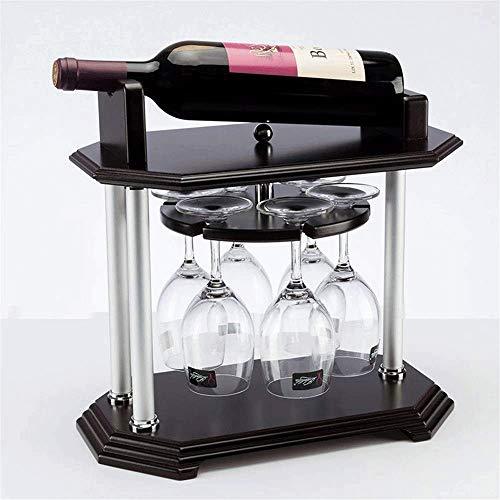 Estante para Botellas de Vino Copas Vino encimera Moderna de Madera Estante del Vino - Stand-Alone Tabla, Bar O KTV-Debe Tener Rack - Moderno diseño Minimalista - for la pequeña Familia en Seco Bares