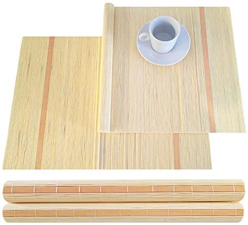 Lot de 4 sets de table en bambou 30 x 45 cm