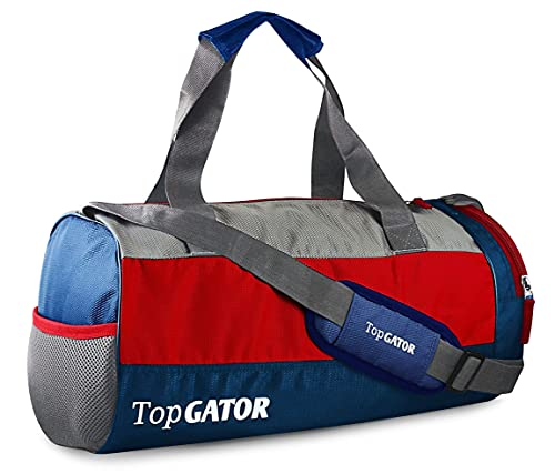 TopGator Polyester 10 inches Soft Duffle Gym Bag with Shoes Compartment