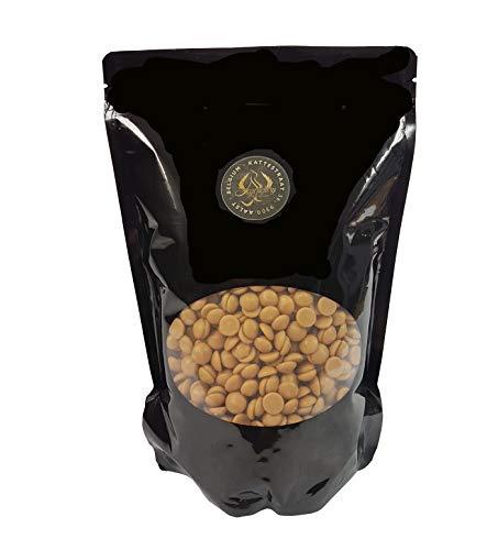 Legendary - it's all about beans CALLETS WEIß mit Karamel - Original belgische Schoko Drops, für Schokoladen-Fondue und Schoko-Brunnen (Gold, 1 kg)