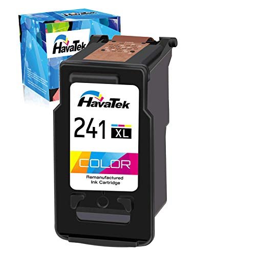 HavaTek Remanufactured Ink Cartridge Replacement for Canon 241XL 241 XL CL-241XL Used in Canon PIXMA MG3620 TS5120 MG3600 MG3520 MX472 MX452 MX532 MG3220 MG2120 MX432 Printer (1 Tri-Color, 1 Pack)