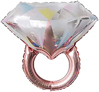 Cards Galore Online Round 18 60th Anniversary Foil Helium Balloon Diamond Flutes Not Inflated