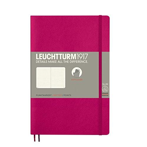LEUCHTTURM1917 359294 Notizbuch Paperback (B6+), Softcover, 123 nummerierte Seiten, dotted, Beere