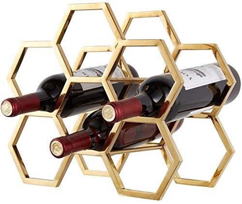 TUHFG Botellero rústico apilable, Decoración de la Pared de aplicación del Vino 6 botellero de Hierro Multifunction Piso Estante del Vino del refrigerador de Vino for Copas Bastidores