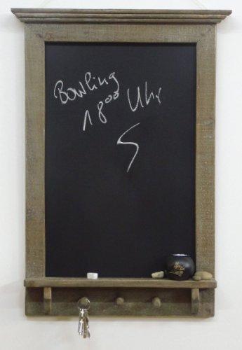 Ardoise murale élégante Tableau noir RABEA style rustique - Hauteur env. 80 cm