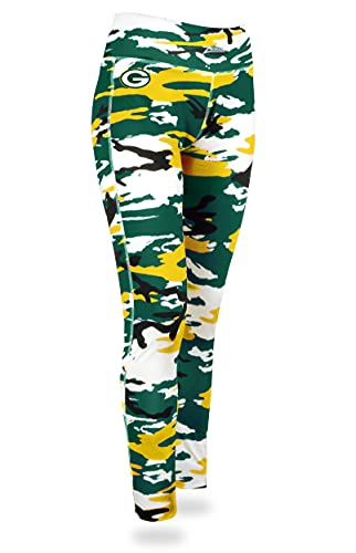 Zubaz NFL Women's Camo Leggings, Green Bay Packers Large