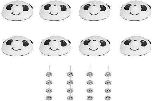 zyh 8 Sätze Quilt und Quiltclip,Panda-Quiltclip,Befestigungsclip für die Quiltabdeckung