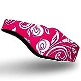 Qshare Fascia da Nuoto - Migliore Fascia per l'orecchio di Design per Proteggere Le Orecchie del Nuotatore, Medico consigliato per Tenere Fuori l'acqua e Tappi per Le Orecchie (Rosa, L: 10 Anni+)