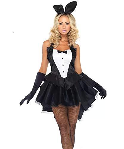thematys® Sexy Playboy Bunny Vestido - Conjunto de Disfraces para Damas Carnaval y Cosplay (Large)