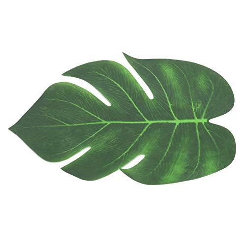 Oumefar Hojas de Palmera Tropical Artificial simulación Hojas Verdes Accesorios de Guirnalda 12 Piezas para decoración de Plantas de Bricolaje(12 Piezas de Hojas Tropicales Artificiales)