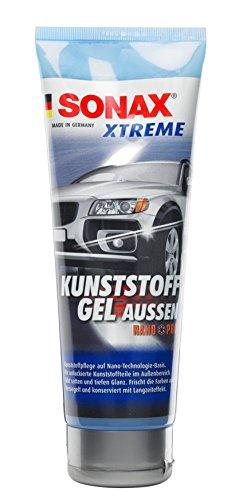 SONAX XTREME KunststoffGel Außen NanoPro (250 ml) pflegt unlackierte Kunststoffteile im Außenbereich von Fahrzeugen | Art-Nr. 02101410