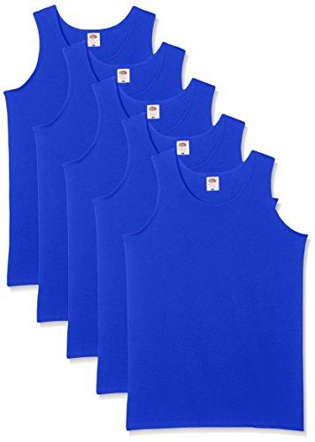 Fruit of the Loom Herren Regular Fit Unterhemd 5-Pack Athletic Mens, Blau (Royal), XX-Large