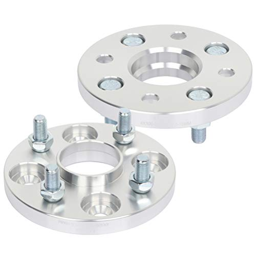 SCITOO 2X 15mm Silver 4x100mm to 4x100mm hubcentric Wheel Spacers 4 Lug 12x1.5 54.1mm fits for 1991-2001 for F-ord Escort 1993-2002 for Toy-o-ta Corolla