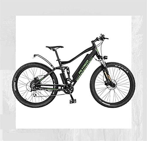 GMZTT Unisex BICICLEY Adulto 27,5 Pulgadas de Bicicletas de montaña eléctrica, suspensión...