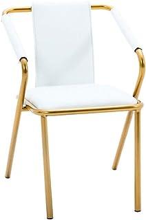 FDN Cocina Sillas de Comedor,Cocina Oficina Comedor Mostrador Ocio Cafe Americana Silla de La Sala de Estar Sillas de Comedor (Color : PU-White)