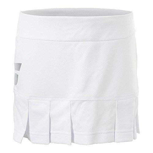 Babolat Core Junior Falda Falda Ropa de Tenis Blanco, Blanco/Azul/Rojo, 12 Años