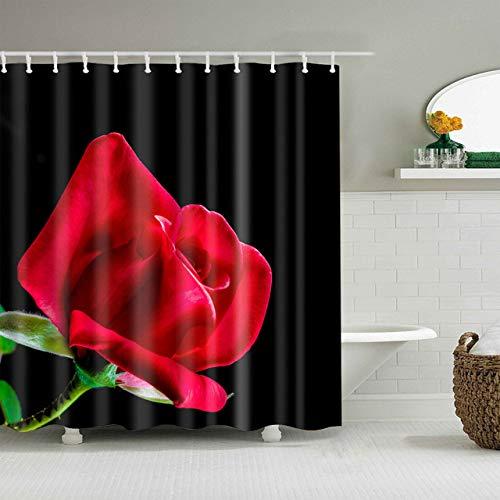 xkjymx Nordisches rosa erwachsenes mit Kapuze korallenrotes Vlies-warmes Rosen-Schwarz verlässt Blumen-süßes Leben-Haus