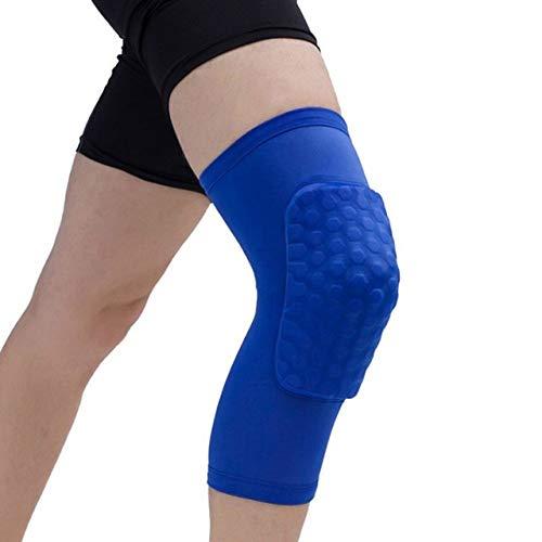 YUXIN Zhaochen Pads Honeycomb Knie, einteiliger, Basketball Knieschützer, Sport, for Volleyball und Knieschützer, Unterstützung Straps, Kompression Ärmel, for den Fußball (Color : Blue, Size : XXL)