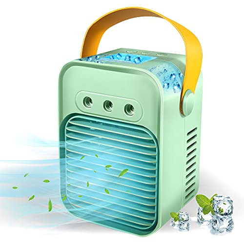 Portable Air Conditioner, Rechargeable Personal USB Air Cooler Fan, Evaporative...