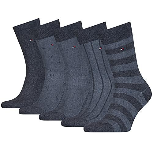 Tommy Hilfiger Birdseye Men's Socks Gift Box Chaussette Classique, Jeans, 43 Taille Normale Homme