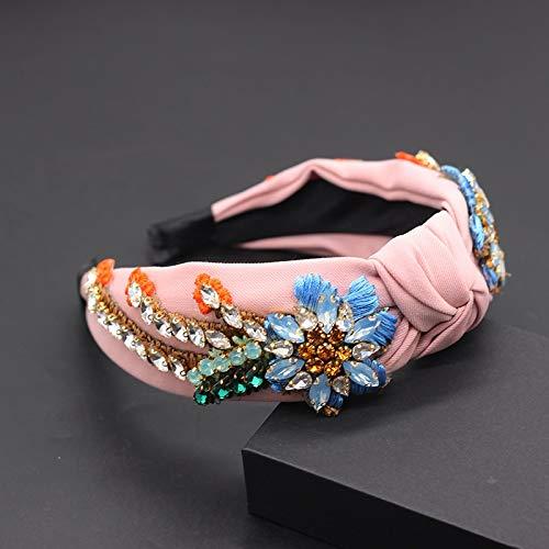wangk Tejido de Borla de imitación Flor de Girasol exquisitos Accesorios para el Cabello Nuevos Accesorios de Pelo Americana 3