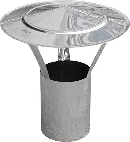 Housse de pluie dn180 mm rond avec tiroir – Acier inoxydable V4 A