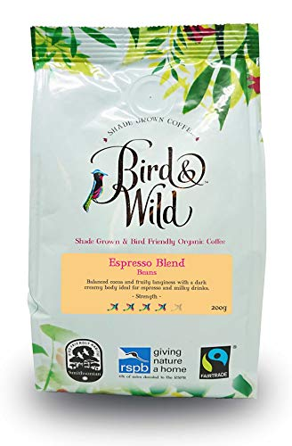 Bird & Wild Espresso Roast Whole Bean Coffee – Fairtrade,...