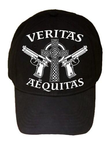 Aequitas Veritas Saints Prayer GUN Celtic Cross Logo Adjustable Cap Hat