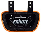 Schutt Sports Football Back-Plate for Shoulder Pads, Neon Orange, Youth