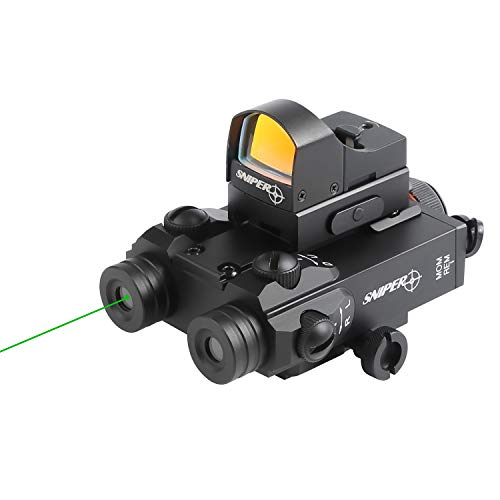 Sniper FL3000R Green/IR Laser Sight Combo Fit Night Vision with TR20 Red Dot Sight