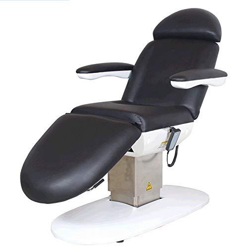 Regulación eléctrica Beauty Massage Table cama eléctrica ajustable sillón reclinable para la cara o el spa, pedicura masajear la cama con mando a distancia con cuero Premium 195 x 62 x 75 cm