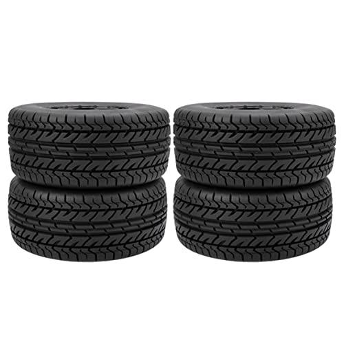 Yixikejiyouxian Durable RC Wheel 1:10 Juego de neumáticos de camión de Recorrido Corto 12 mm Hub Hexagonal para Traxxas Slash HPI VKAR Redcat HSP - Negro 10044
