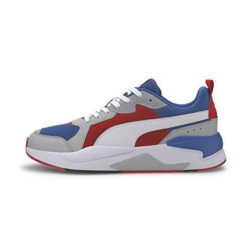 PUMA Unisex-Erwachsene X-ray Sneaker, Blau Royal White-High Risk Red-High Rise Black, 44 EU