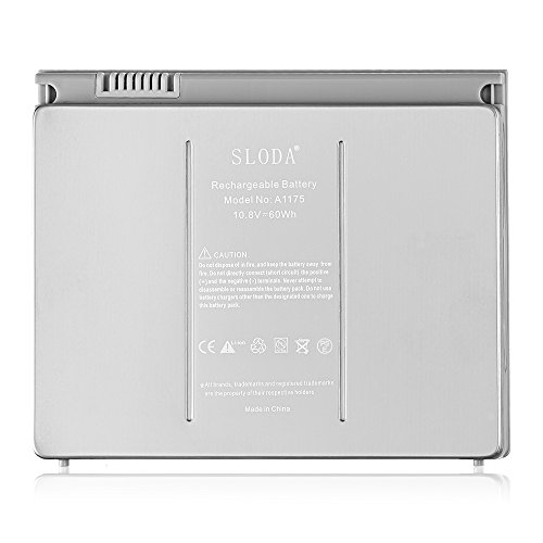 SLODA Compatibile con MacBook Pro 15 'A1175 A1211 A1226 A1260 A1150 Sostituzione per MacBook Pro da 15 pollici 1.1 2.2 3.1 4.1 Batteria per laptop [Li-Polymer]