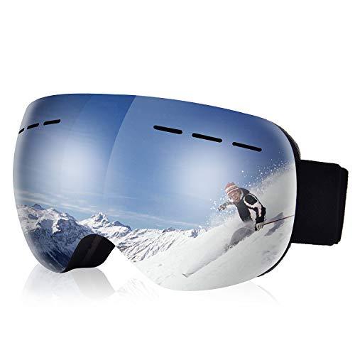COSMOERY Skibrille Snowboard Brille Doppel-Objektiv UV-Schutz Anti-Fog Skibrille für Damen und Herren (Farbe 2)