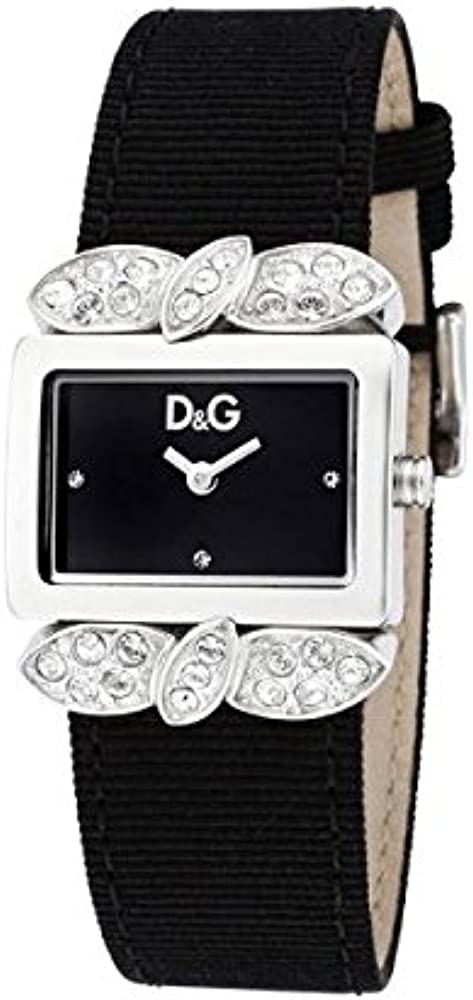 Dolce & gabbana orologio donna cinturino in gros-grain cassa in acciaio DW0493