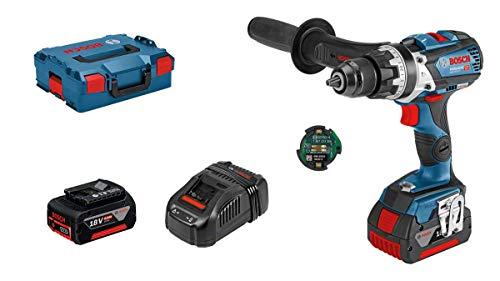 Bosch Professional 18V System Akku Schlagbohrschrauber GSB 18V-85 C (max. Drehmoment: 110 Nm, inkl. Connectivity Modul, 1x5,0 Ah Akku, 1x3,0 Ah Akku, in L-BOXX 136) - Amazon Edition