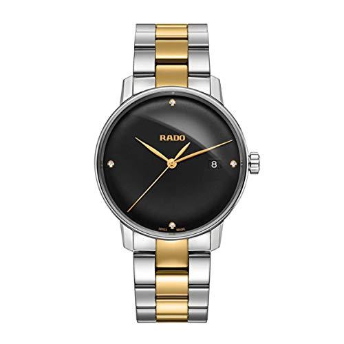 Rado Coupole R22864712 Herren-Armbanduhr mit schwarzem Zifferblatt