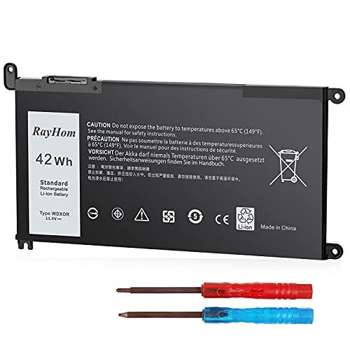 WDX0R - Batería para portátil Dell Inspiron 15 5000 7000 Serie 5565 5567 5568 5570 5578 7560 7570 7579 7569, 13 5368 5378 5379 7368 7378, 17 5765 5767 5770 Inspiron 14 7460 (P58F FC92N 3CRH3).