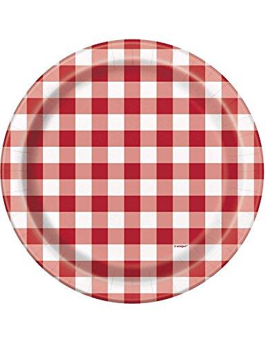 Unique Party 58715 - Confezione da 8 piatti di carta per barbecue, 23 cm